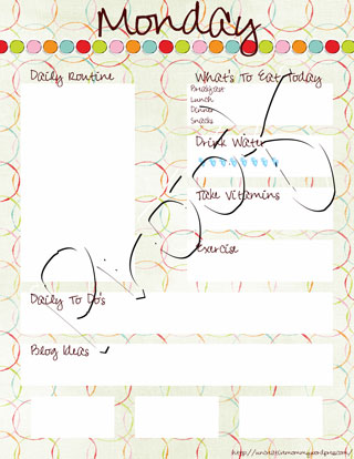 Uncreative Mommy Digital Creations - Daily Planner