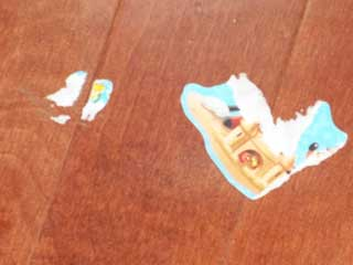 Organic Sticker Removal on Hardwood Flooring