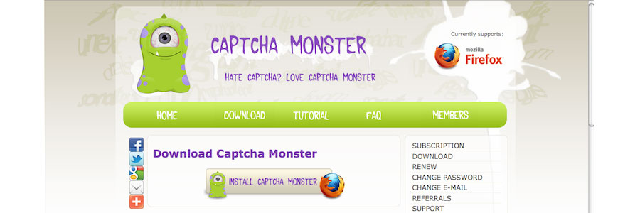 Captcha Monster