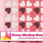 Valentine's Day Digital Scrapbook Paper – FREEBIE