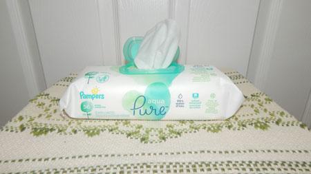 Pampers Aqua Pure 6x Pop Top Sensitive Water Baby Wipes