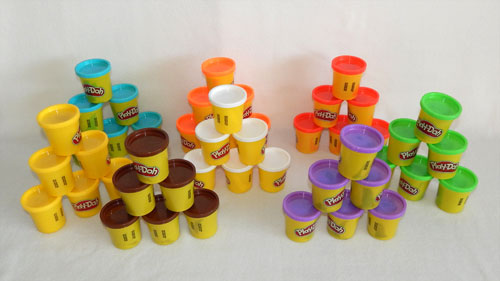 Play-Doh Cans