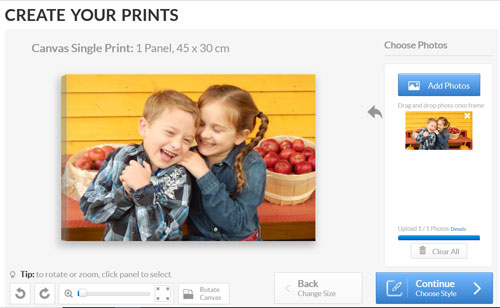 Create Your Print Canvas Factory