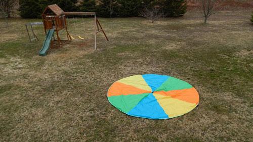 Magicfly Parachute backyard