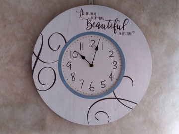 Precious Moments Farmhouse Clock
