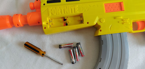 Fortnite AR-L Nerf Elite Dart Blaster Batteries