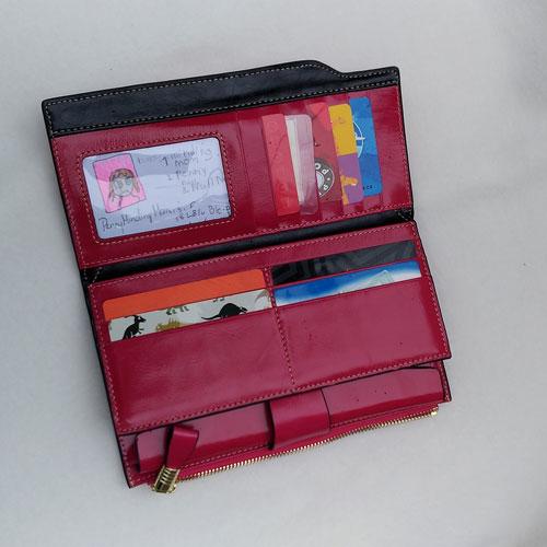 Parvenza Wallet Cards Inside