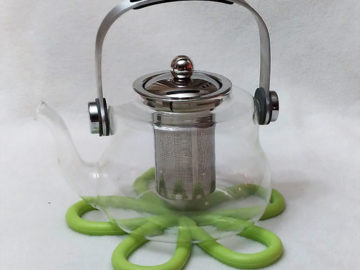 AFORIZO Glass Teapot and Trivet