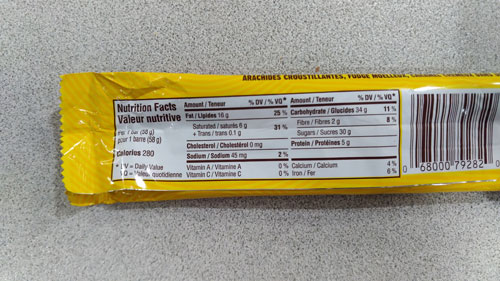 Oh Henry Nutrition