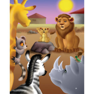 The lion cub and his friends